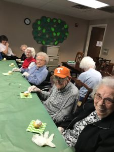 Imogene, Harvey, Betty, Reva, Bess, and Gayle at the Cooking Club Activity