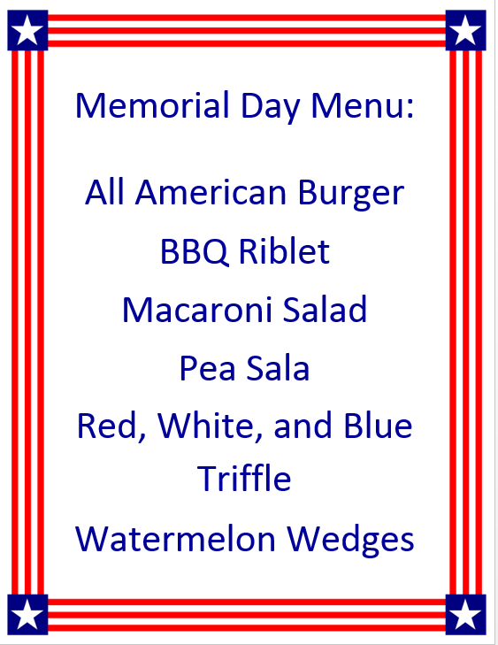 Screenshot 44 1 - Memorial Day Menu